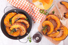 Roasted pumpkin slices Royalty Free Stock Image