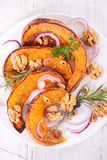 Roasted pumpkin slices Stock Image