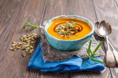 Roasted pumpkin soup Stock Images
