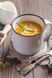 Roasted pumpkin soup Royalty Free Stock Photography