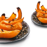 Roasted pumpkin with spice Stock Photography