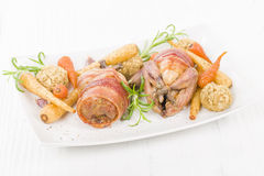 Roasted Quail Stock Photo
