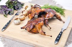 Roasted Quail Royalty Free Stock Image