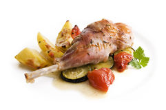 Roasted rabbit Royalty Free Stock Images