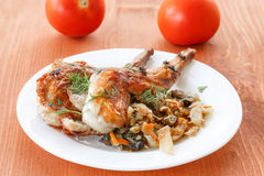 Roasted rabbit Stock Photography