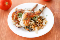 Roasted rabbit Stock Images