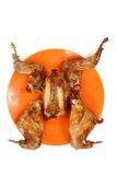 Roasted rabbit meat Royalty Free Stock Photography
