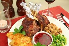 Roasted Rack Of Lamb Royalty Free Stock Photography