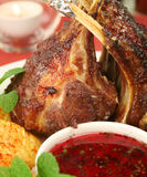 Roasted Rack Of Lamb Stock Photos
