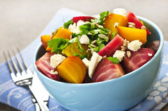 Roasted red and golden beets Stock Images