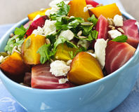 Roasted red and golden beets Royalty Free Stock Images