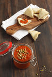 Roasted red pepper dip Stock Photography