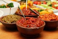 Roasted Red Pepper Sauce Royalty Free Stock Photography