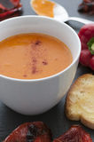 Roasted Red Pepper Soup.  Stock Photography