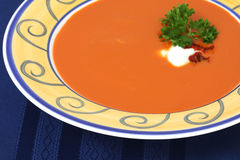 Roasted red pepper and tomato soup Stock Photo
