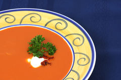 Roasted red pepper and tomato soup Royalty Free Stock Photography