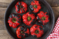 Roasted red peppers Royalty Free Stock Photos
