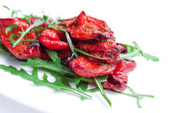 Roasted red peppers Stock Photography