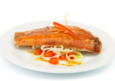 Roasted Red Snapper Fish Stock Image