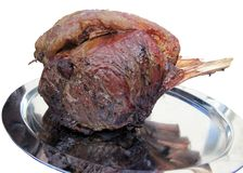 Roasted Rib of beef Stock Image