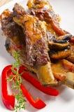Roasted ribs burnt. A fresh Roasted ribs burnt stock photo