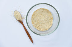 Roasted Rice Powder. Thai Northeastern Cuisine Ingredient such as Laab Moo (Spicy minced pork salad Stock Photography