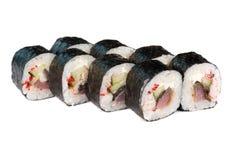 Roasted roll with tuna fish Stock Photo