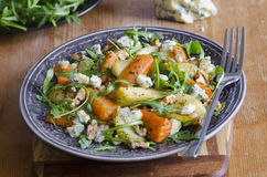 Roasted root and rocket salad Stock Photography