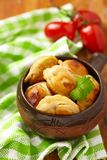 Roasted russian pelmeni Royalty Free Stock Photography