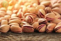 Roasted saló las nueces de pistacho Fotografía de archivo libre de regalías