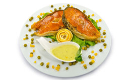 Roasted salmon Royalty Free Stock Image