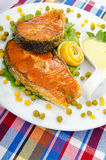 Roasted salmon Royalty Free Stock Images