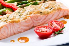Roasted Salmon Royalty Free Stock Photos