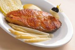 Roasted salmon Royalty Free Stock Photo
