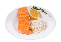 Roasted salmon fillet Stock Photo
