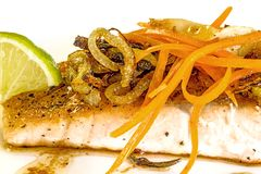 Roasted salmon fillet Stock Image