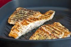 Roasted salmon fillets Stock Photos