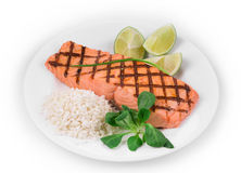 Roasted salmon fillets Royalty Free Stock Images