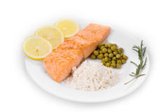 Roasted salmon fillets Stock Image
