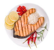 Roasted salmon fillets Royalty Free Stock Photos