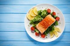 Roasted salmon Stock Image