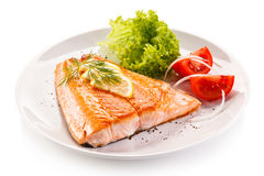 Roasted salmon Royalty Free Stock Photography
