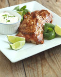 Roasted salmon with hoisin glaze Royalty Free Stock Photos