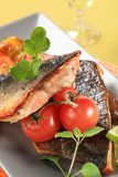 Roasted salmon trout fillets Stock Photography