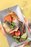 Roasted salmon trout fillets Royalty Free Stock Image