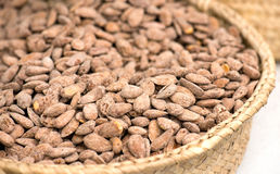 Roasted and Salted Almonds On The Market Royalty Free Stock Photo