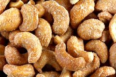 Roasted and Salted Cashew Nuts Royalty Free Stock Photo