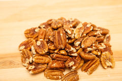 Roasted and Salted Pecans Stock Photo