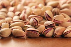 Roasted salted pistachio nuts. High quality pistachio images shot in studio light stock images