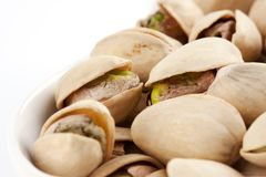 Roasted and salted pistachios Stock Photo